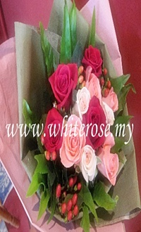 WRR22-Rose Sweety ( Pink & Red Roses)